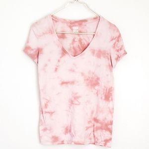 VS PINK pink tie dye v neck tshirt GUC size XS